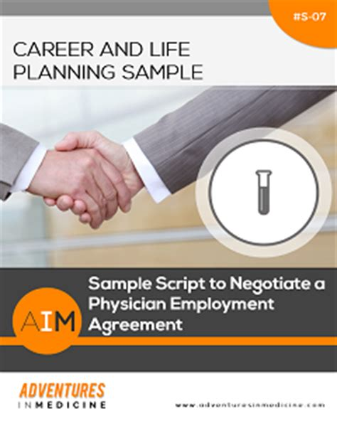 physician employment agreement sle script to negotiate a physician employment