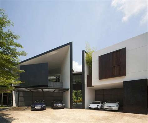 black and white home black white house by formwerkz architects thecoolist