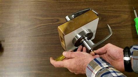 sargent lockset cylinder removal youtube