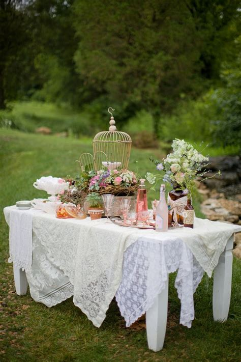 Vintage Wedding Table Decor by 5 Days Of Vintage Garden Wedding Decorations