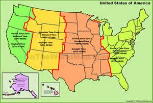 time zone america map map usa my