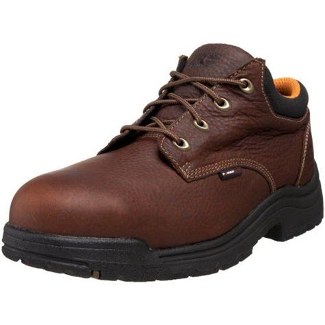 timberland pro s titan safety toe oxford brown 10 w