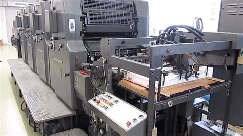 4 color press 4 color heidelberg movph used offset printing machine