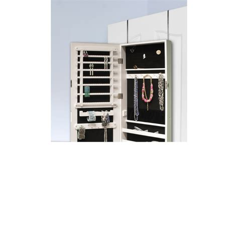 over the door mirror with storage cabinet btexpert over the door hanging jewelry armoire cabinet
