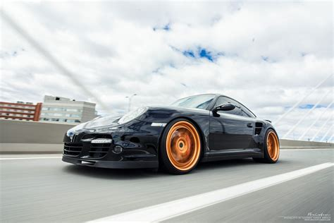 porsche turbo wheels black in motion black porsche 997 turbo brixton forged