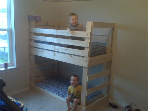 children bunk bed wooden 2 floor ladder ark 25 diy bunk beds with plans guide patterns