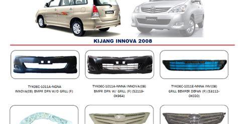 Accu Mobil Vios bemper innova 2008 auto part mobil