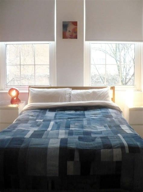 recycled bedroom ideas make interesting bed quilt out of denim 20 amazing diy