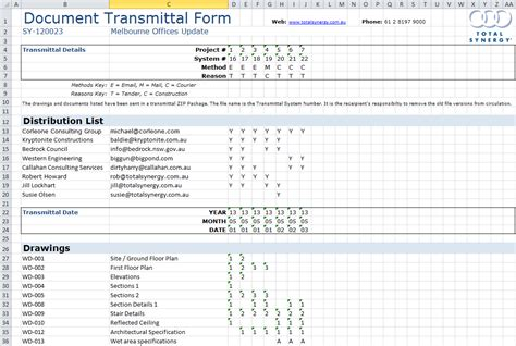drawing transmittal form template transmittal ms excel 174 template