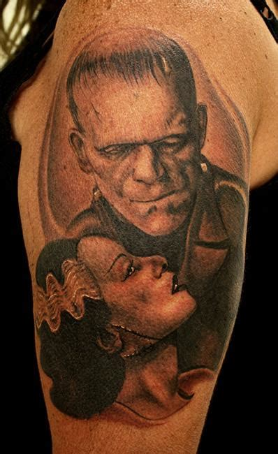 bride of frankenstein tattoo frankenstein and the of frankenstein by daniel
