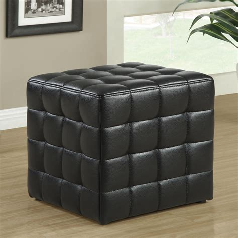 tufted cube ottoman monarch specialties i 89 tufted cube ottoman lowe s canada