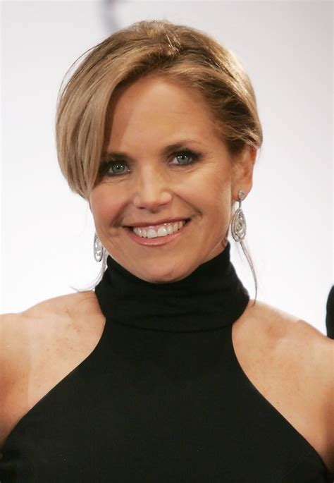 what is katie courics current hairstyle katie couric in 34th international emmy awards gala