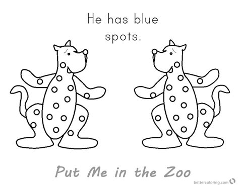coloring page put me in the zoo put me in the zoo coloring pages blue spots free