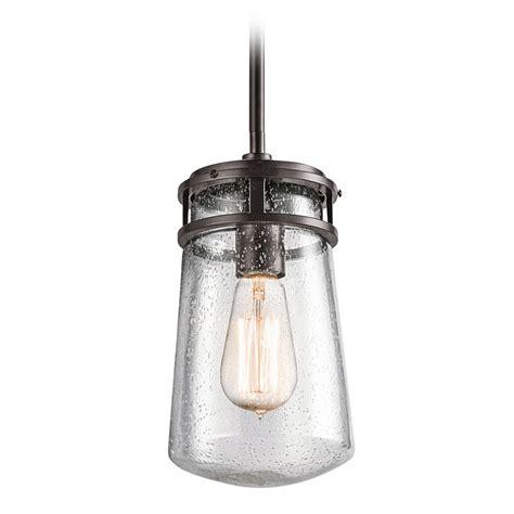 Outdoor Hanging Light Seeded Glass Outdoor Hanging Light Bronze Kichler Lighting 49447az Destination Lighting