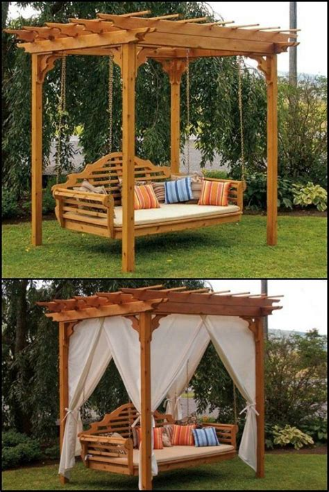 bed with swing best 25 pergola swing ideas on pinterest patio swing