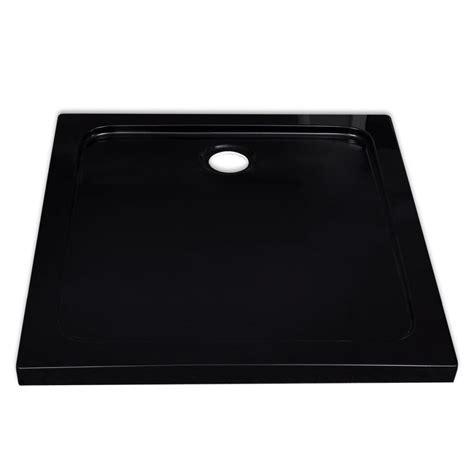 piatto doccia nero piatto doccia quadrato in abs nero 80 x 80 cm vidaxl it