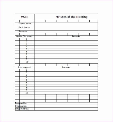 minute of meeting template doc 8 meeting minute template excel exceltemplates