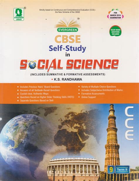 Self Study Mba Books by Cbse Self Study In Social Science Term 2 Class 9