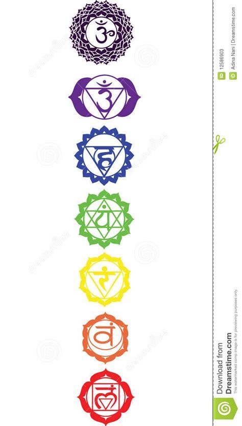 os sete chakras fotos de stock imagem 12586903