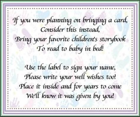 baby shower invitations bring book poem bring a book baby shower w new question