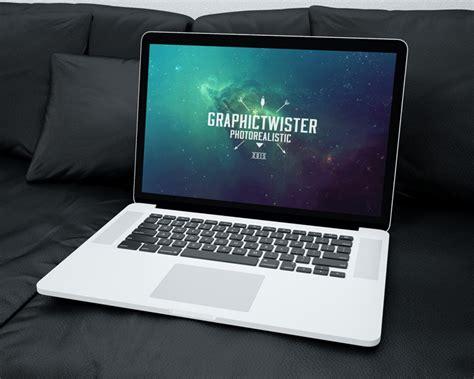 design mockup mac mac book mockup on sofa mockup templates images vectors