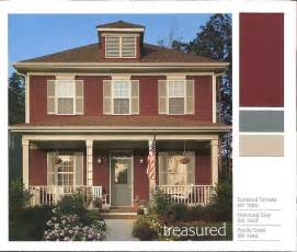 red brick house exterior color combinations