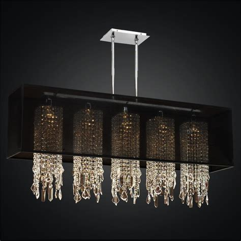 Rectangular Shaped Chandeliers Rectangular Shade Chandelier Crystal Drop Chandelier