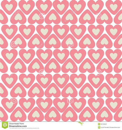 z pattern heart sounds seamless pattern mosaic with pink heart vector