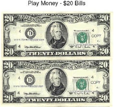 free printable fake play money 4 the love of freebies free printable play money