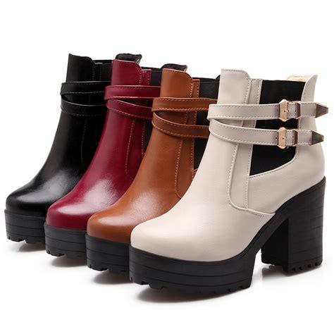 Sepatu Sandal Platform Heels Chunky Size 43 2016 platform shoes s booties plus size eur 34 43
