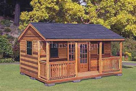 Cottage Shed Plans by 16 X 20 Cabin Shed Guest House Building Plans 61620 Ebay