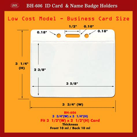 id card design and size business card size id card holder
