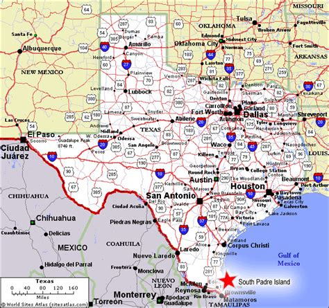 map of south texas object moved