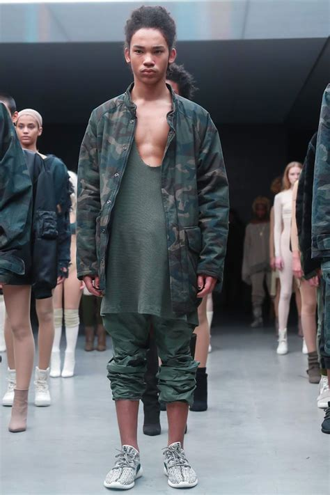 kanye west unveils yeezy season   adidas originals collection  boost sneakers  nyfw