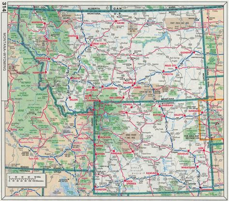 wyoming road map map of montana and wyoming kelloggrealtyinc