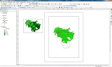 arcgis layout view scale using arcmap