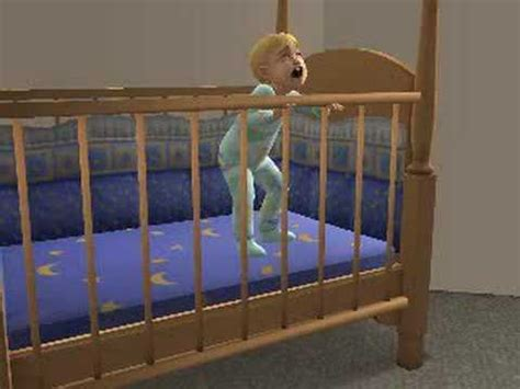 sims 2 toddler escapes from his crib