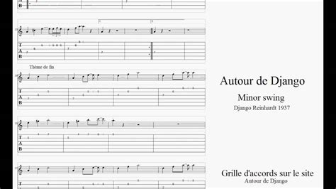 minor swing tab apprendre le jazz manouche minor swing partition