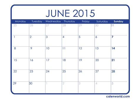 printable schedule june 2015 june 2015 calendar printable calendars