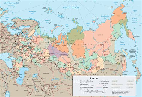 russia and europe physical map russia map