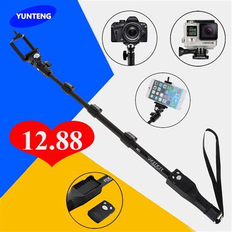 Free Holder U Tongsis Yunteng Bluetooth Original Monopo Diskon for gopro dslr ios android phone selfie stick yunteng 1288 bluetooth extendable handheld