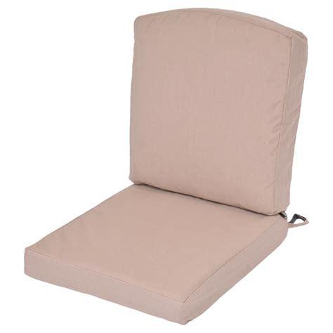 Oak Cliff Sunbrella Spectrum Sand Replacement 2 Piece Replacement Patio Chair Cushions Sunbrella
