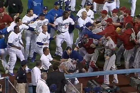 bench clearing brawl baseball brawl erupts between dodgers and diamondbacks after three