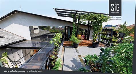 bagaimana  mendesain taman rumah minimalis  atap rooftop garden arsitag