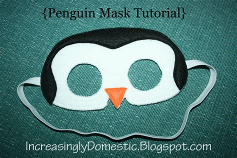 printable penguin mask template increasingly domestic tutorial penguin mask