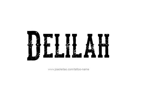 delilah tattoo name designs