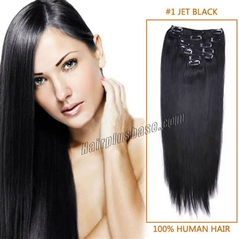 30 inch human hair extensions 30 inch 1 jet black clip in human hair extensions 11pcs