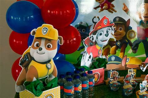 Paw Patrol Decorations by Diy Paw Patrol Decoration Centerpieces Free
