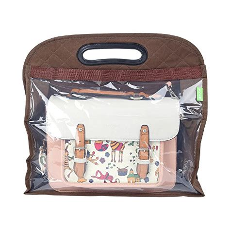 Cover Organizer Small Brown pack of 3 handbag storage anti dust cover clear hanging