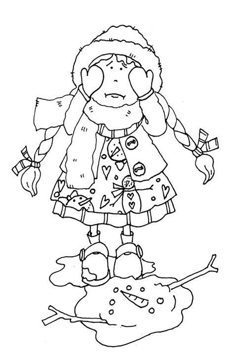melting snowman coloring page snowman melting dearie dolls digi sts coloring book